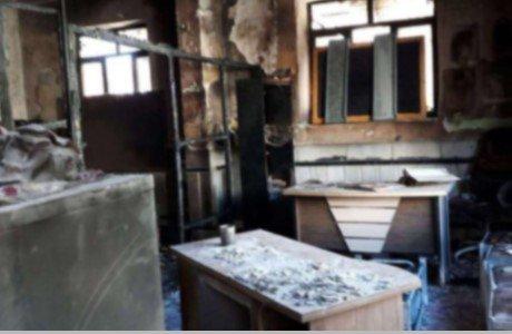 کلاس درسی که دچار حریق شد و سه دختر دانش آموز در آن سوختند