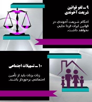 حقوق زنان در ایران آزاد فردا ۵