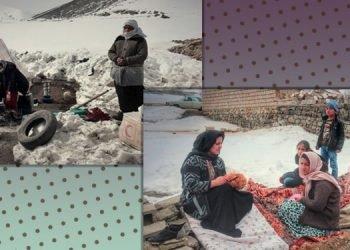 زنان زلزله زده در سرمای زمستان برای دریافت چادر توسط سپاه اخاذی می شوند