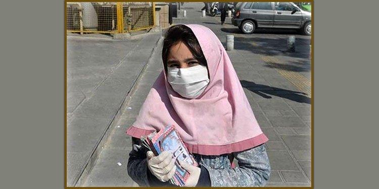 یک دختربچه کار در خیابان های اصفهان با بنزین به آتش کشیده می شود