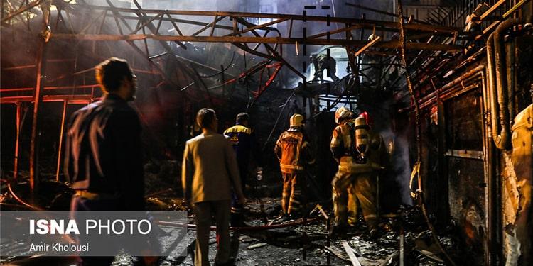 آتش سوزی در کلینیک سینای تهران در اثر سوءمدیریت رژیم – مرگ ۱۶زن