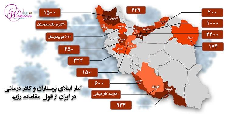 کادر درمانی ایران با ۱۵هزار مبتلا به کرونا، ۶ ماه محروم از حقوق