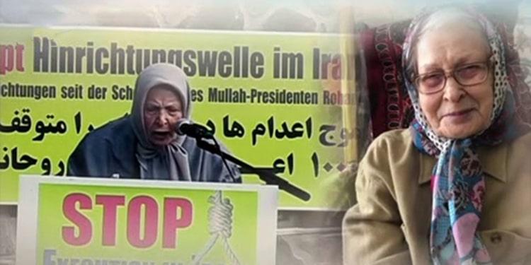 فاطمه کریمی در حال سخنرانی