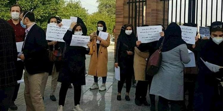 اعتراضات پرستاران و کارکنان شرکتی در خوزستان