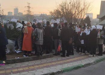 پرستاران بیمارستان میلاد در اعتراض به حقوق از دست رفته تجمع کردند