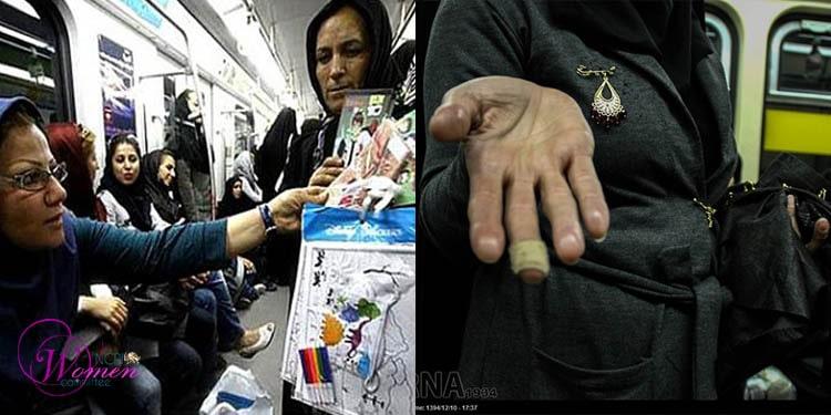 دستفروشانی که در رنج کار می کنند