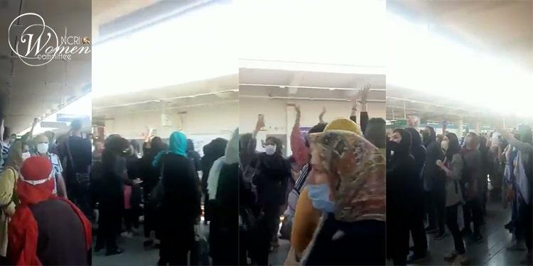 صبح روز سه شنبه ۲۹ تیر ۱۴۰۰ زنان دلیر در متروی صادقیه تهران