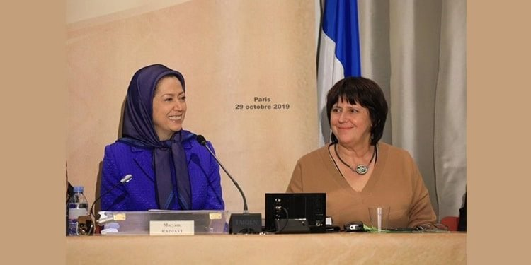 Maryam Rajavi Michèle de Vaucouleurs CPID meeting at FNA 20191029