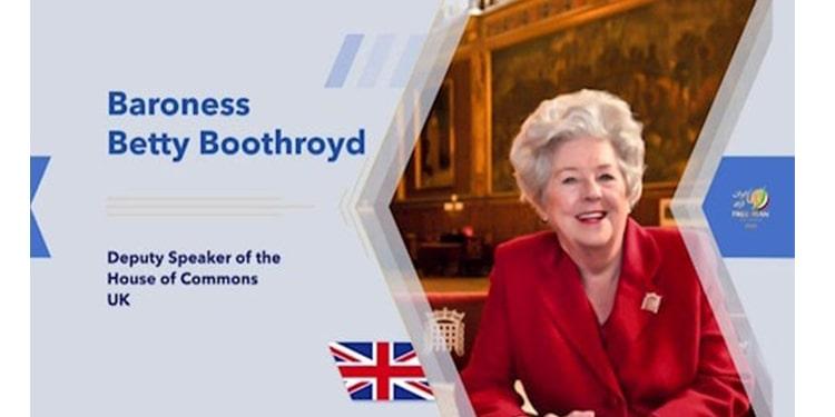 La baronne Betty Boothroyd