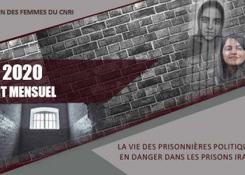 Rapport mensuel août 2020 : La vie des prisonnières politiques en danger