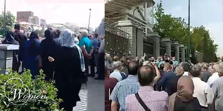À Téhéran, les manifestants se sont rassemblés devant le parlement des mollahs