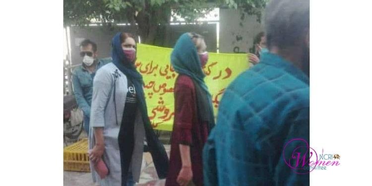 Des femmes manifestant à Kazeroun