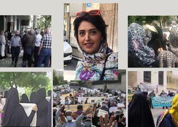 """Les travailleurs ont défilé dans 20 villes en Iran contre le """"gouvernement de pilleurs""""."""