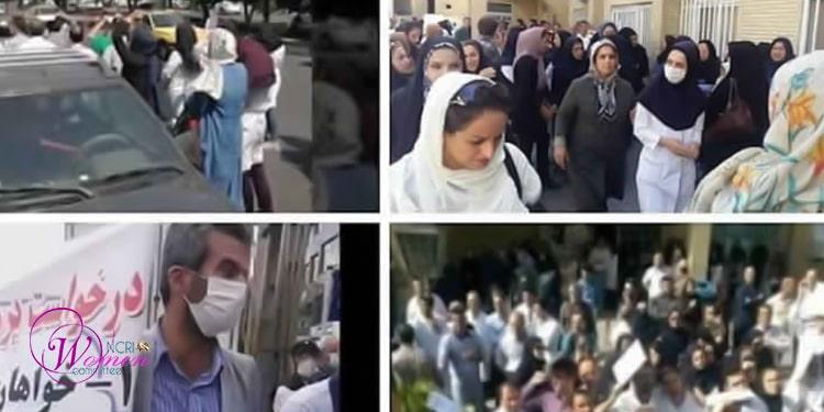Personnel hospitalier à Téhéran et à Karadj