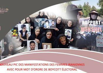 Rapport mensuel de mai 2021 - manifestations des femmes iraniennes
