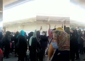 Des femmes en colère à Téhéran scandent des slogans contre Khamenei et son régime.