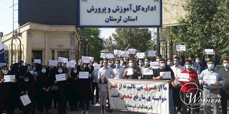 Manifestations coordonnées d'enseignants avec une participation importante de femmes