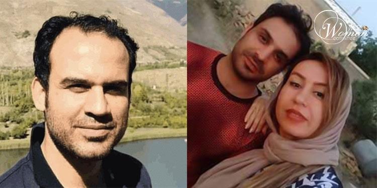 Saïd Afkari (à gauche) et Elham Afkari serrant dans leurs bras leur frère, Habib, qui se trouve actuellement en isolement.