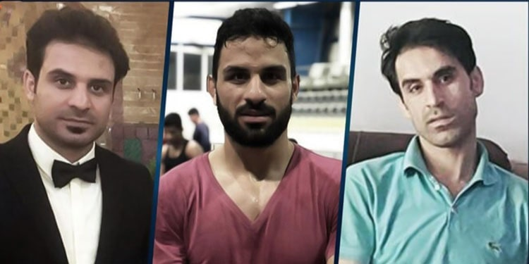De gauche à droite, Habib Afkari, Navid Afkari et Vahid Afkari. Navid a été exécuté le 12 septembre 2020, tandis que Habib et Vahid sont détenus à l'isolement.
