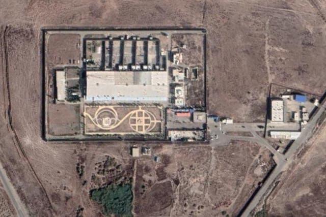 Photo satellite de la prison de Qarchak - Carte Google