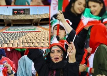 Un stade vide pour maintenir l'interdiction faite aux femmes d'assister à un match