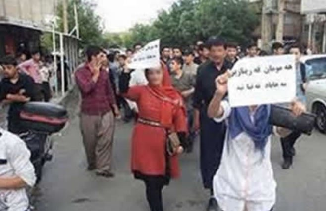 Demonstrations in Mahabad in response to death of Farinaz Khosravani