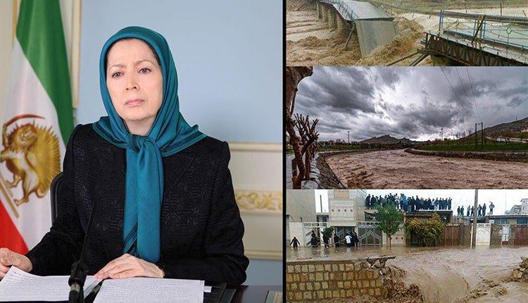 Flooding of 30 Iranian provinces, Maryam Rajavi's message