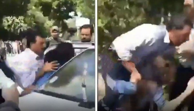 violent arrest of a young woman in Tehranpars park