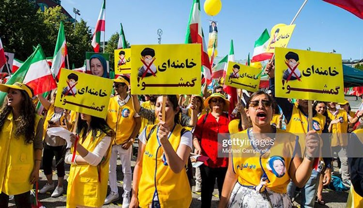 Iranian women widely participated in the opposition rally in Stockholm