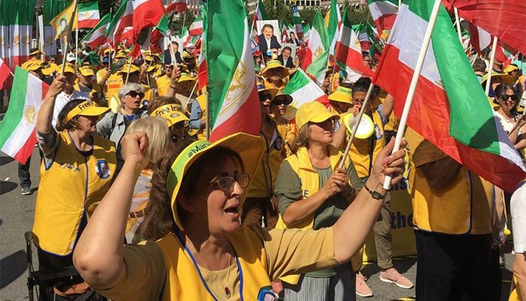 Iranian women had an active participation in the opposition rally in Stockholm, Sweden