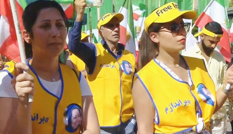 Iranian women widely participated in the rally in Stockholm, Sweden
