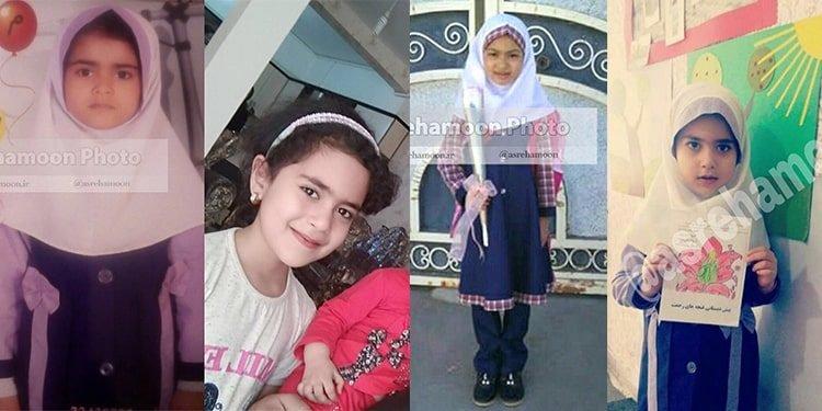 Four little girls who died in fire in Zahedan