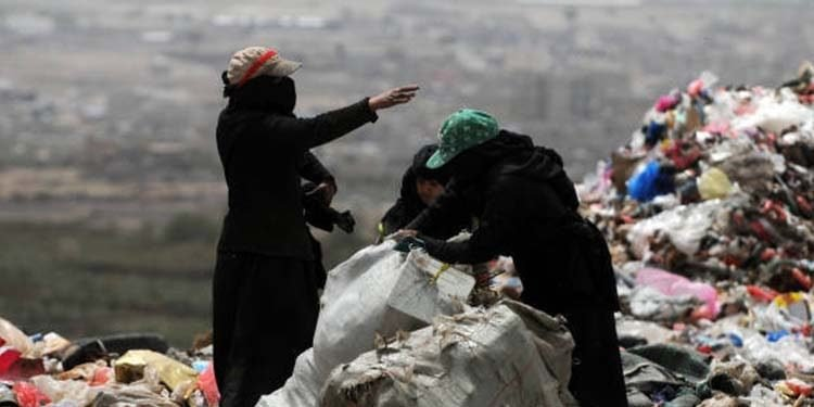 Feminization of poverty in Iran women sifting through garbage-min