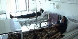 22 school girls were poisoned and hospitalized after inhaling carbon monoxide gas in their classrooms in a school in Kargan Jadid village of Bostanabad