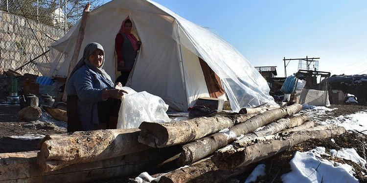 Two months on, earthquake-stricken women abandoned in the cold