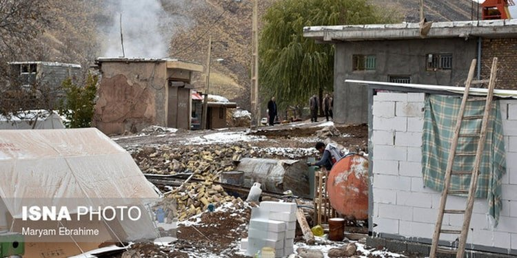 The living conditions of the people in this village is very critical due to severe cold.
