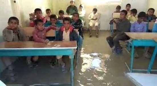 Speaking on the conditions of schools in flood-hit areas, the Director-General of Education in