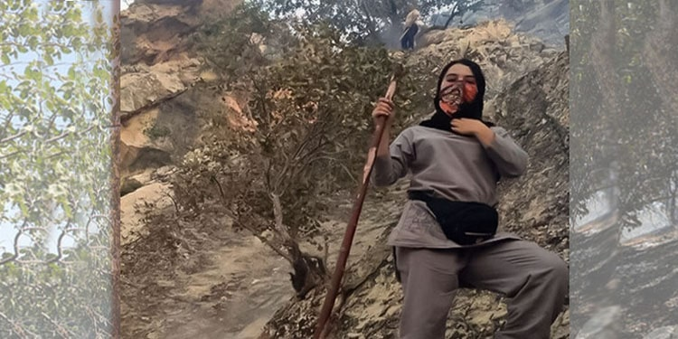 Women fight forest fires with bare hands in at least 2,000 points in Iran
