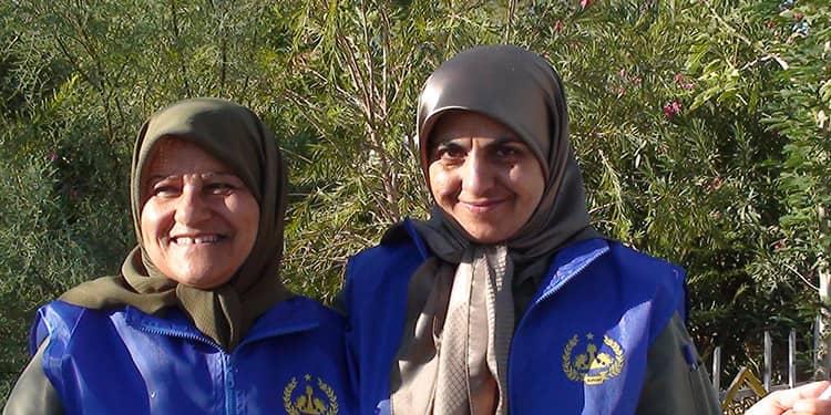Maryam Aghar and her colleague, Maryam Nojavan