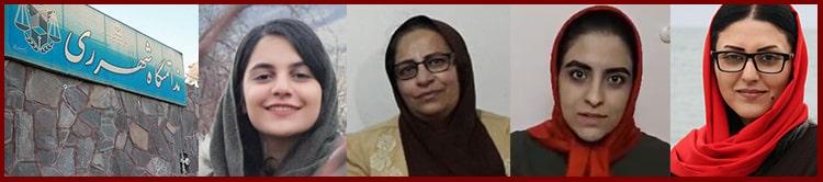 From left: Forough Taghipour, Zahra Safaei, Parastoo Mo'ini, and Golrokh Iraee