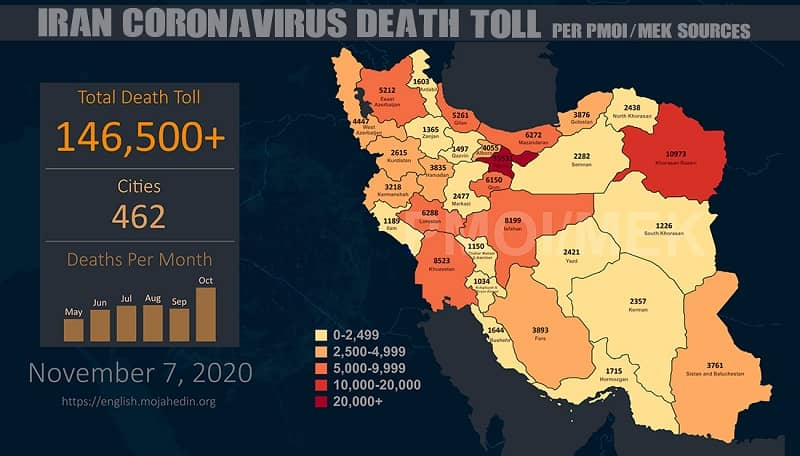 covid-19 death toll in Iran