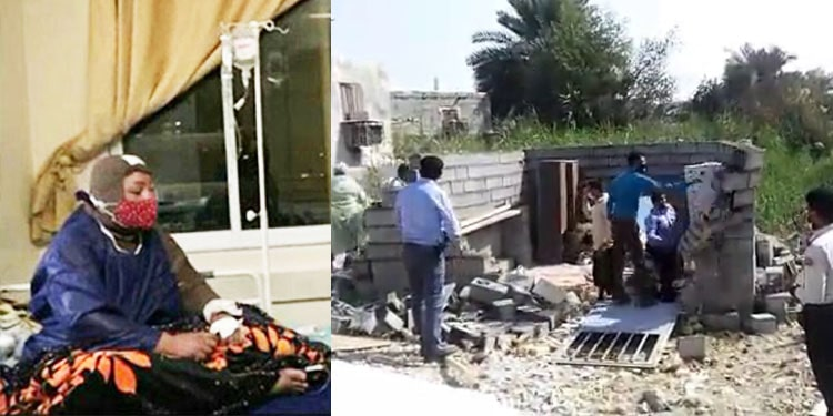 Bandar Abbasi woman set herself ablaze after state forces razed her home