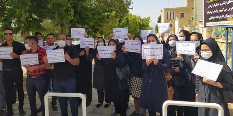 Protests of nurses and healthcare workers in Karaj, Yazd, Yasuj and Bafgh
