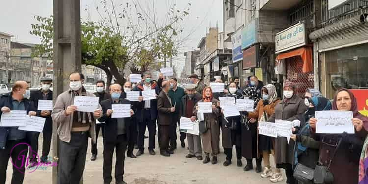 The Social Security Organization's retirees held protests in at least 11 provinces