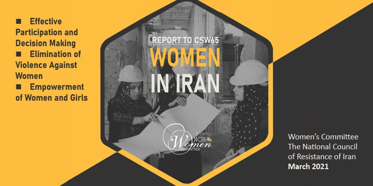 Iranian women's participation and decision-making in public life – Report to CSW65