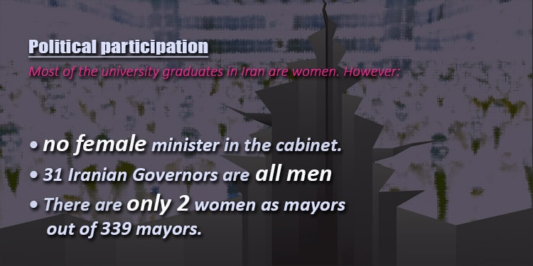 Iran denies women participation in political life