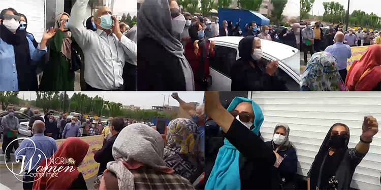 Women participate in 3rd nationwide protests of pensioners and retirees