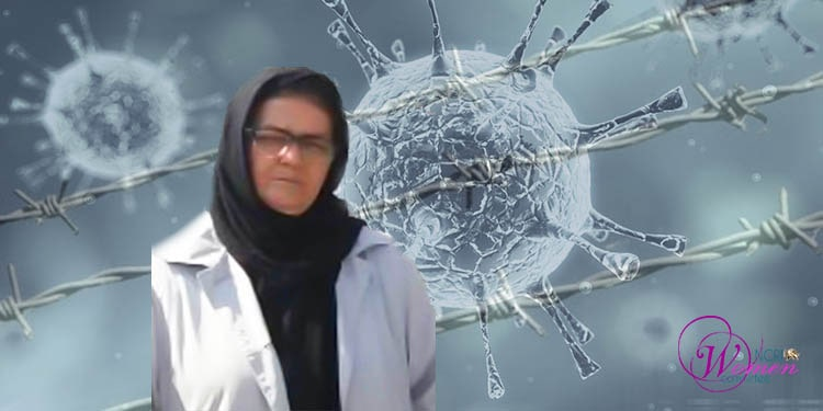 Retired teacher Nahid Fat'halian tested positive for the Covid-19 in Evin Prison