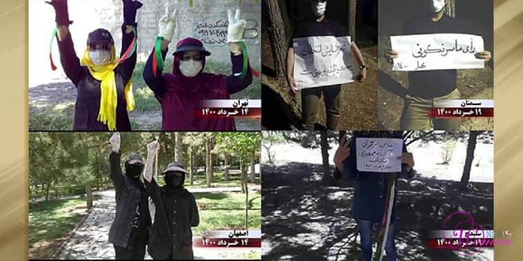 Iranian women speak out against the sham election and the henchman of the 1988 massacre