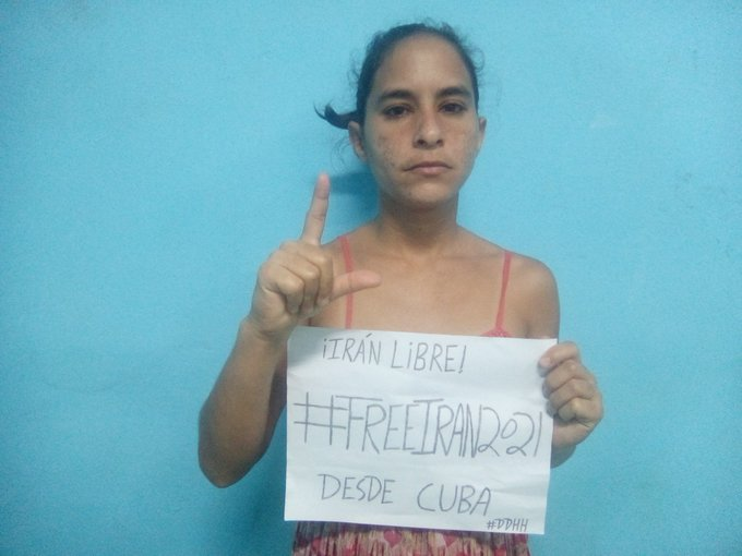 AnaIris from Cuba, a former political prisoner and a human rights activist